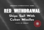 Image of Russian ships Atlantic Ocean, 1962, second 4 stock footage video 65675057790