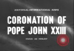 Image of Pope John XXIII Vatican City Rome Italy, 1958, second 1 stock footage video 65675057799