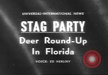 Image of deer rescue Florida United States USA, 1960, second 2 stock footage video 65675057800