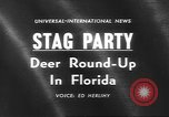 Image of deer rescue Florida United States USA, 1960, second 4 stock footage video 65675057800