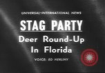 Image of deer rescue Florida United States USA, 1960, second 5 stock footage video 65675057800