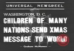 Image of International Christmas broadcast Washington DC USA, 1938, second 2 stock footage video 65675057811