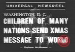Image of International Christmas broadcast Washington DC USA, 1938, second 5 stock footage video 65675057811