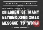 Image of International Christmas broadcast Washington DC USA, 1938, second 6 stock footage video 65675057811
