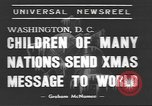 Image of International Christmas broadcast Washington DC USA, 1938, second 7 stock footage video 65675057811