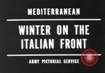 Image of snow covered area Italy, 1944, second 4 stock footage video 65675057850