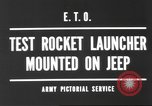 Image of test rocket launcher Alsace France, 1944, second 8 stock footage video 65675057851