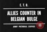 Image of Battle of the Bulge in Belgium during World War II Belgium, 1945, second 4 stock footage video 65675057852