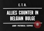 Image of Battle of the Bulge in Belgium during World War II Belgium, 1945, second 7 stock footage video 65675057852
