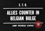 Image of Battle of the Bulge in Belgium during World War II Belgium, 1945, second 8 stock footage video 65675057852