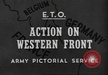 Image of United States Army Belgium, 1945, second 1 stock footage video 65675057868
