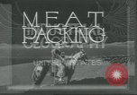 Image of meat packing United States USA, 1922, second 5 stock footage video 65675057876