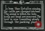 Image of meat packing industry United States USA, 1922, second 1 stock footage video 65675057878