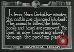 Image of meat packing industry United States USA, 1922, second 2 stock footage video 65675057878