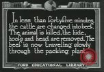 Image of meat packing industry United States USA, 1922, second 4 stock footage video 65675057878
