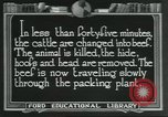 Image of meat packing industry United States USA, 1922, second 5 stock footage video 65675057878