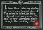 Image of meat packing industry United States USA, 1922, second 6 stock footage video 65675057878