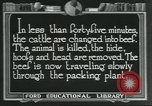 Image of meat packing industry United States USA, 1922, second 7 stock footage video 65675057878