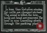 Image of meat packing industry United States USA, 1922, second 8 stock footage video 65675057878