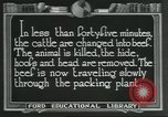 Image of meat packing industry United States USA, 1922, second 9 stock footage video 65675057878