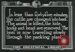 Image of meat packing industry United States USA, 1922, second 10 stock footage video 65675057878