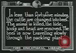 Image of meat packing industry United States USA, 1922, second 11 stock footage video 65675057878