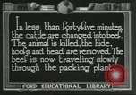 Image of meat packing industry United States USA, 1922, second 12 stock footage video 65675057878