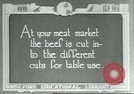 Image of meat packing industry United States USA, 1922, second 1 stock footage video 65675057879