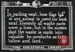 Image of meat packing industry United States USA, 1922, second 3 stock footage video 65675057880
