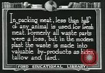Image of meat packing industry United States USA, 1922, second 5 stock footage video 65675057880