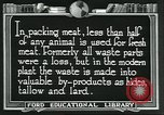 Image of meat packing industry United States USA, 1922, second 7 stock footage video 65675057880