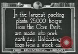 Image of meat packing industry United States USA, 1922, second 1 stock footage video 65675057881