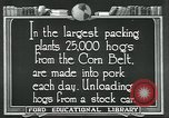 Image of meat packing industry United States USA, 1922, second 3 stock footage video 65675057881