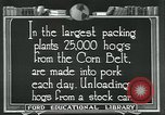 Image of meat packing industry United States USA, 1922, second 5 stock footage video 65675057881