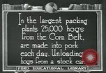 Image of meat packing industry United States USA, 1922, second 7 stock footage video 65675057881