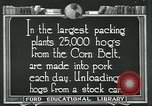 Image of meat packing industry United States USA, 1922, second 8 stock footage video 65675057881