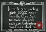 Image of meat packing industry United States USA, 1922, second 10 stock footage video 65675057881