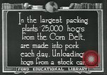 Image of meat packing industry United States USA, 1922, second 12 stock footage video 65675057881