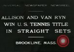 Image of Open Men's Doubles Brookline Massachusetts USA, 1931, second 1 stock footage video 65675058049