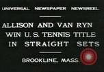 Image of Open Men's Doubles Brookline Massachusetts USA, 1931, second 2 stock footage video 65675058049