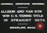 Image of Open Men's Doubles Brookline Massachusetts USA, 1931, second 3 stock footage video 65675058049
