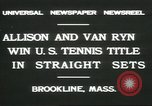 Image of Open Men's Doubles Brookline Massachusetts USA, 1931, second 4 stock footage video 65675058049
