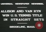 Image of Open Men's Doubles Brookline Massachusetts USA, 1931, second 5 stock footage video 65675058049