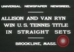 Image of Open Men's Doubles Brookline Massachusetts USA, 1931, second 7 stock footage video 65675058049