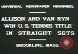 Image of Open Men's Doubles Brookline Massachusetts USA, 1931, second 8 stock footage video 65675058049