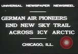 Image of Wolfgang Von Gronau Chicago Illinois USA, 1931, second 8 stock footage video 65675058050