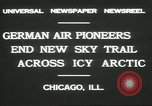 Image of Wolfgang Von Gronau Chicago Illinois USA, 1931, second 9 stock footage video 65675058050