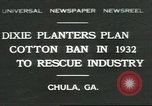 Image of cotton farming Chula Georgia USA, 1931, second 1 stock footage video 65675058053