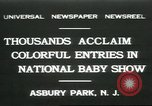 Image of National Baby Show Asbury Park New Jersey USA, 1931, second 1 stock footage video 65675058055
