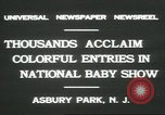 Image of National Baby Show Asbury Park New Jersey USA, 1931, second 2 stock footage video 65675058055